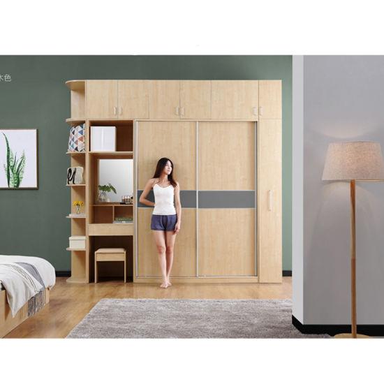 [Hot Item] Manufacturer Direct on Sale 100% Customized Dressing Table  Design Wooden Wardrobe Closet
