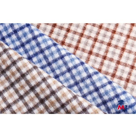 Double-Sided Wool Fabric, Checked Woolen Fabric pictures & photos