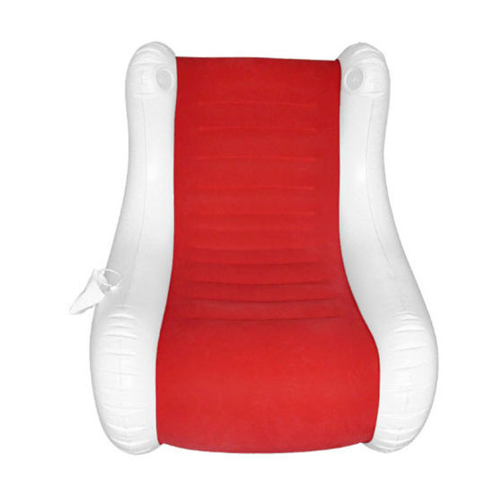 Red Color Flocked PVC Relax Music Inflatable Sofa for Beach or Outdoor pictures & photos