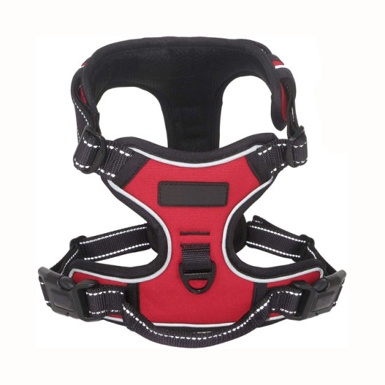 2019 No Pull Dog Harness, Reflective Vest Harness with 2 Leash Attachments and Easy Control Handle