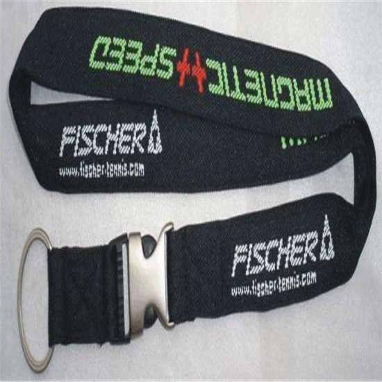 Hot Sale Customized Polyester Woven Lanyard Combination Rubber Metal Hook pictures & photos