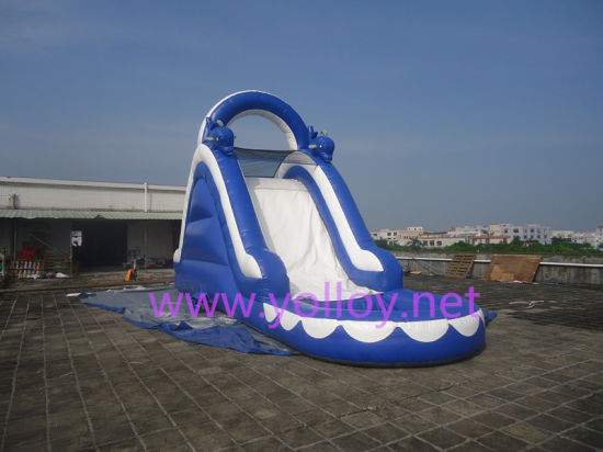 Inflatable PVC Tarpaulin Dolphin Children Inflatable Water Slide with Pool pictures & photos