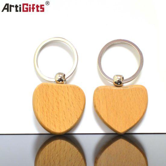 Hot Selling Customer Design Wood Keychain