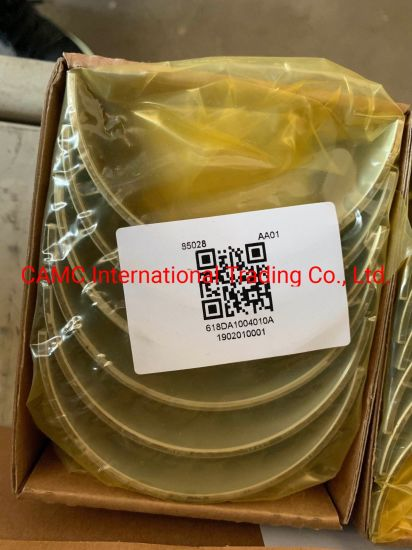 CAMC 618da1004010A Components Conrod Bearing Upper Shell for Truck