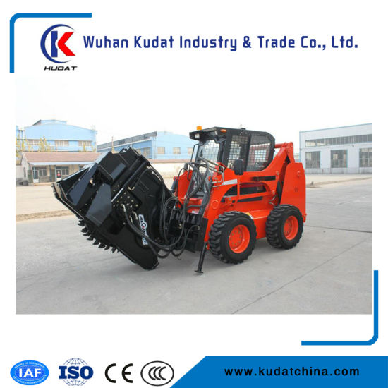 Skid Steer Loader with Disk Type Trencher
