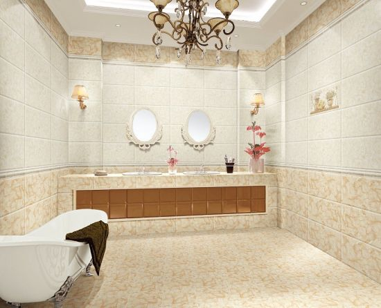 Building Material 300X600mm Marble Look Ceramic Wall Tile for Bathroom