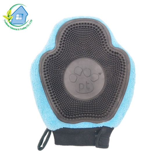 Magic Silicone Brush Scrubber Gloves Great for Dish Wash Cleaning Pet Hair Care Glove