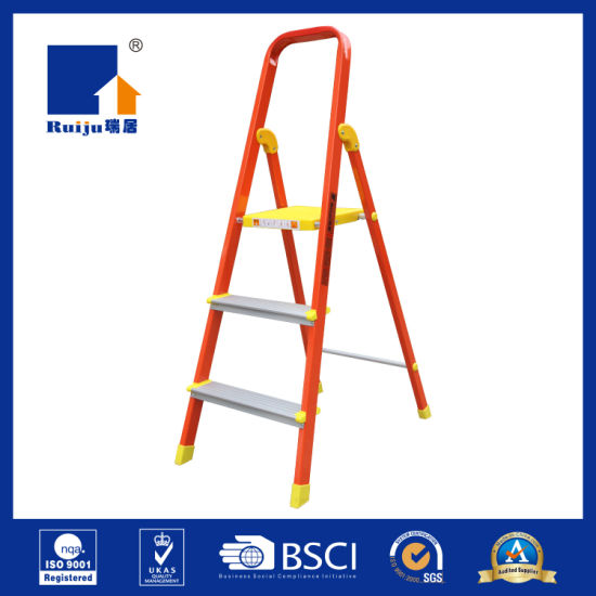 Orange Paint Aluminium Ladder pictures & photos