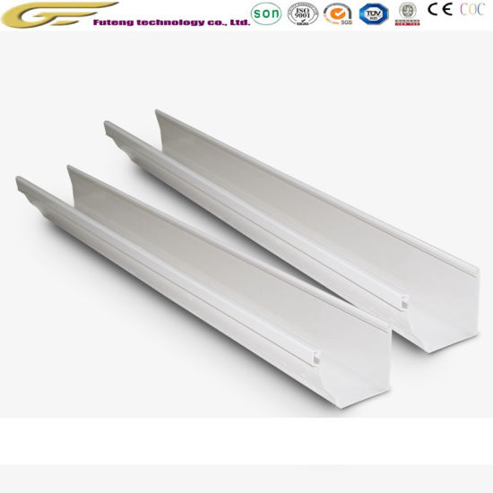 China Rain System Roofing Fittings Downspout Square Pipes Rainwater Pvc Gutters China Downspout Pipe Fitting