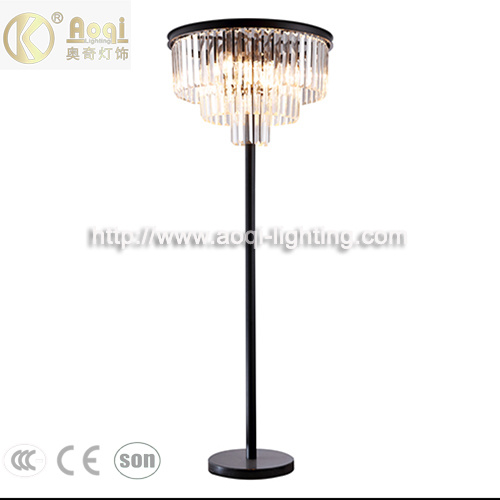 Modern Design Black Crystal Floor Light