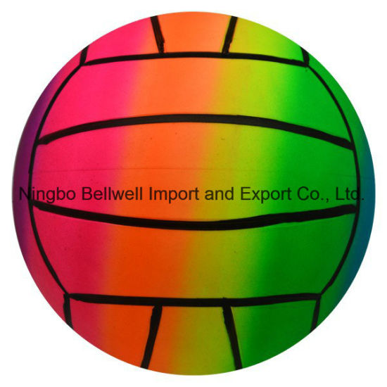 Rainbow Color Inflatable Beach Ball for Water Game pictures & photos