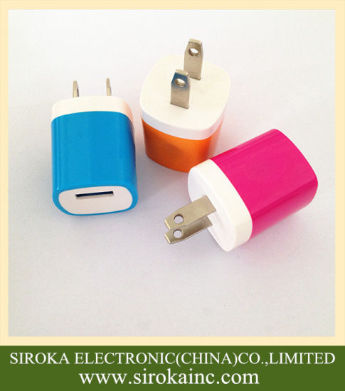 OEM Design 5V 1A 5W Us Fixed Plug USB Home Charger pictures & photos