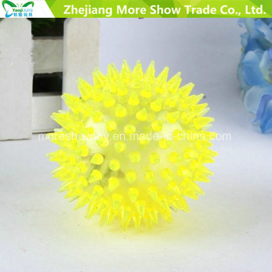 "3"" Flashing Hedgehog Ball Light-up Spiky Novelty Sensory Bouncing Balls pictures & photos"