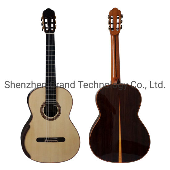 Custom Yulong Guo Super Thin Solid Double Top Chamber Concert Classic Guitar Nut Width 52mm String Scale 650mm
