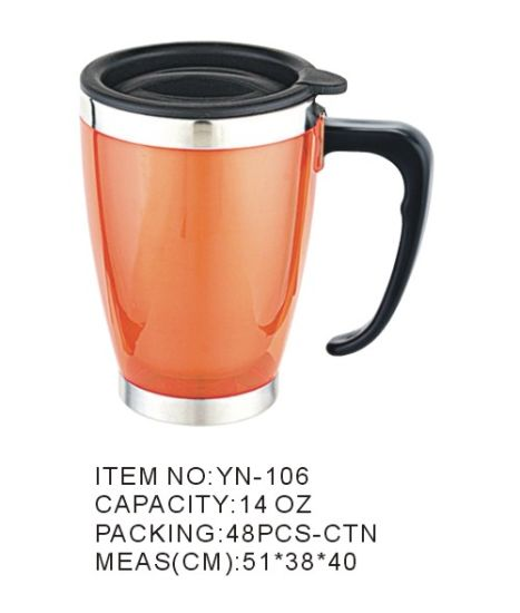 Unique Stainless Steel Carabiner Style Travel Cup (YN-106)