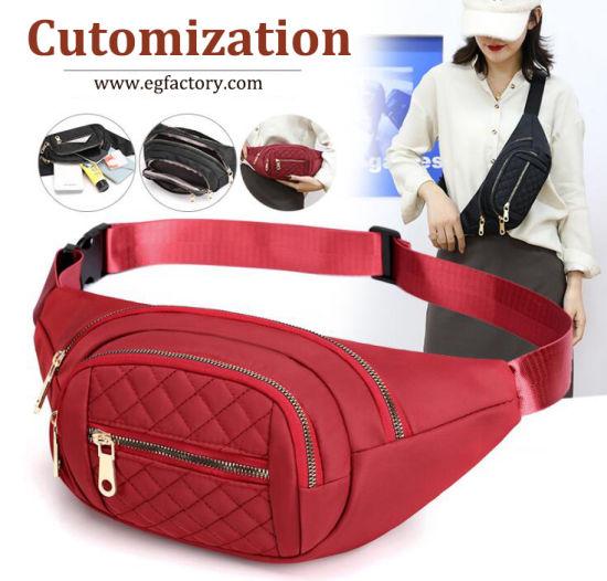 Customization Running Bumbag Cloud Logo Leg Climbing Hip Square Chain Mobile Fanny Bum Bags Wholesale Waterproof Women Pouch Belt Sport Custom Waist Bag