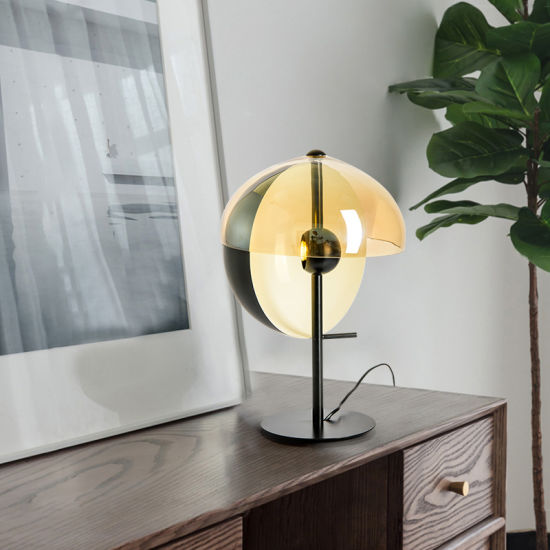 Nordic Modern Hotel Bedroom Bedside Table Lamp Decorate Resin Glass Lighting Coral Table Lamp