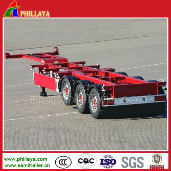 Semi Trailer Manufacturer 40 Feet Container Skeletal Semi-Trailer pictures & photos