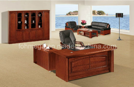 Executive Office Table Desk With Side Drawers And Pedestal Foha 5918