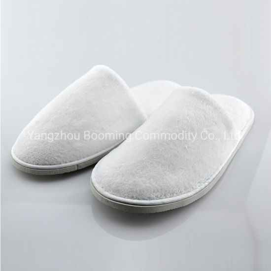 High Quality Six Color Coral Fleece Disposable Hotel Slipper