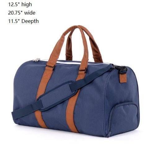 High-End Stylish Duffle Bag with PU Leather Trim