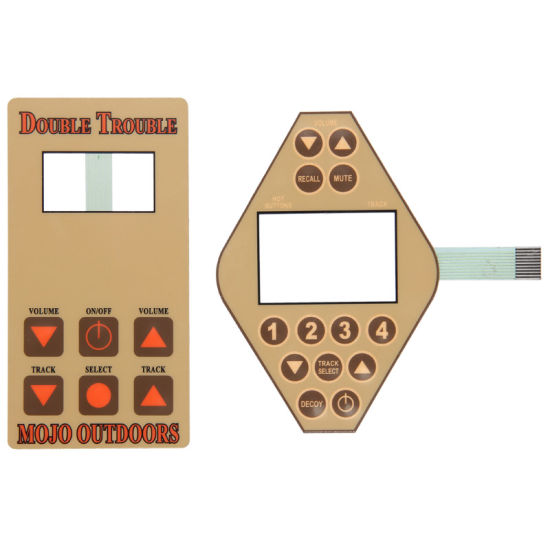 Tactile Graphic Overlay Panel Keypad Membrane Switch