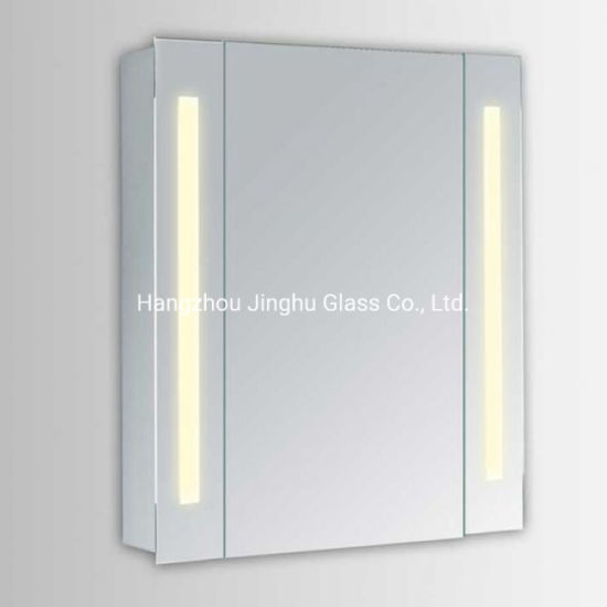 Modern China Aluminum One Door LED Lighted Mirrored Bathroom Medicine Cabinet pictures & photos