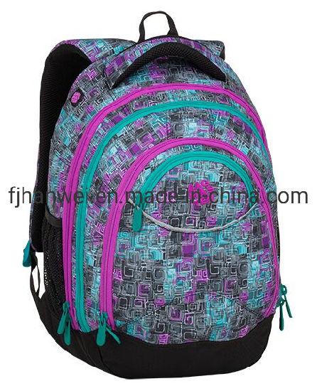 Popular Nice Sublimation Printing Fashion College Students' Polyester Rucksack Knapsack Laptop Backpack