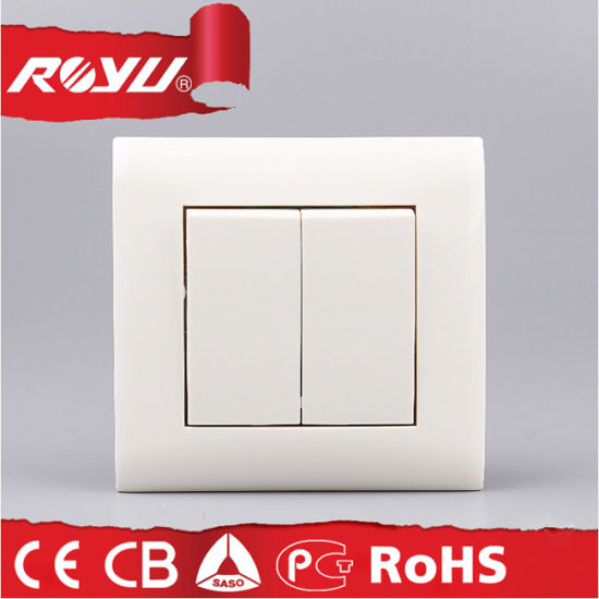 PC Material Viko Design 2 Gang 2 Way Light Switch