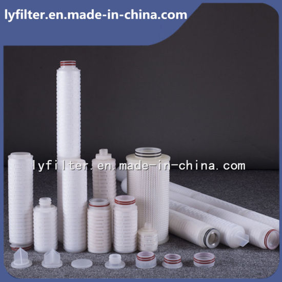 0.1/0.2/0.4/1/5/10 Micron Pleated Water Filter Cartridge for Food and Beverage Industry pictures & photos