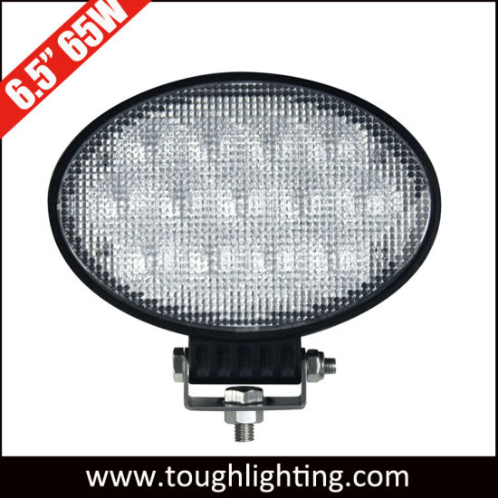 12V/24V E-MARK Approved 6.5 Inch Oval 65W Agriculture LED Tractor Work Lamp Lights