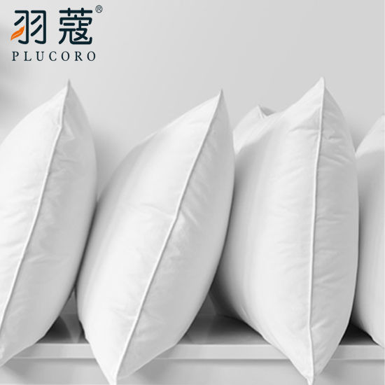 Newest Design Comfortable Custom 5 Stars Hotel Pillow Goose Feather Filling Pillow