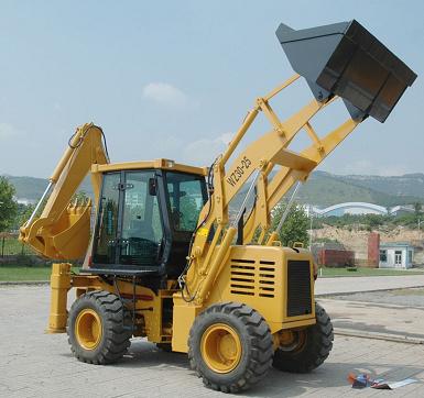 2 Ton Backhoe Wheel Loader with Excavator