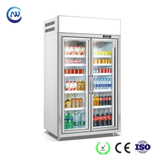 Double Door Supermarket Soft Drink Refrigerator (LG-135)