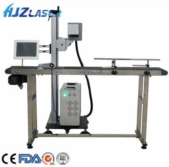 CO2 Fly Laser Marker Online Flying Fiber CO2 Conveyor Belt Laser Marking Printing Machine