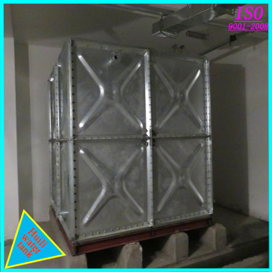 China Externally Reinforced Pressed Steel Galvanized Water Tank