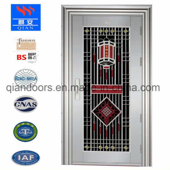 China Modern Style Stainless Steel Door Simple Entry Door China