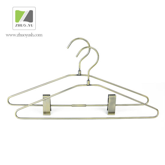 China Vintage Metal Wire Clothing / Skirt Hangers - China Hanger ...