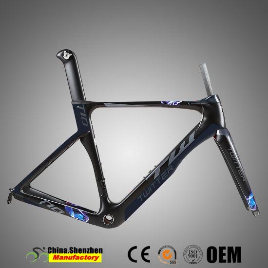 700c Light Head Tube Tapered 42*52mm Carbon Road Bike Frame