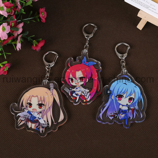 China Custom Anime Clear Acrylic Keychains with Double Sided