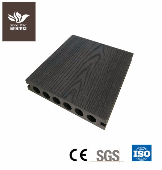 Outdoor WPC Material Wood Plastic Composite Embossing Decking Board