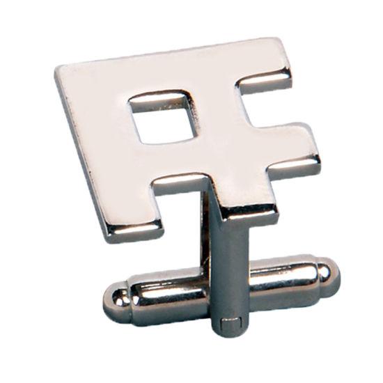 Custom Silver Cufflink with Synthetic Enamel (ele-CL002)