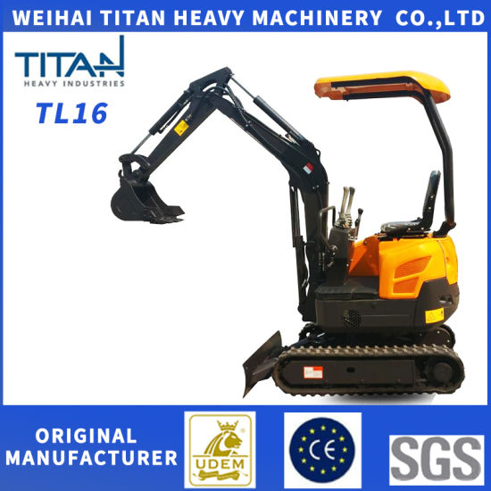 Chinese Mini Digger Excavator for Home Use with Accessories