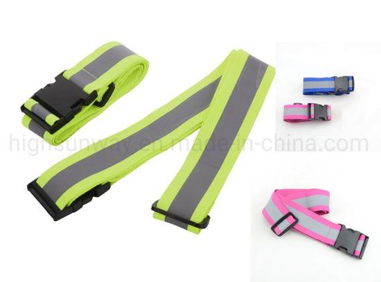 Reflective Luggage Belt with Tsa Lock, Luggage Belt with Reflective Band, Luggage Strap with Logo Printing, Suitcase Belt, Reflective Suitcase Strap