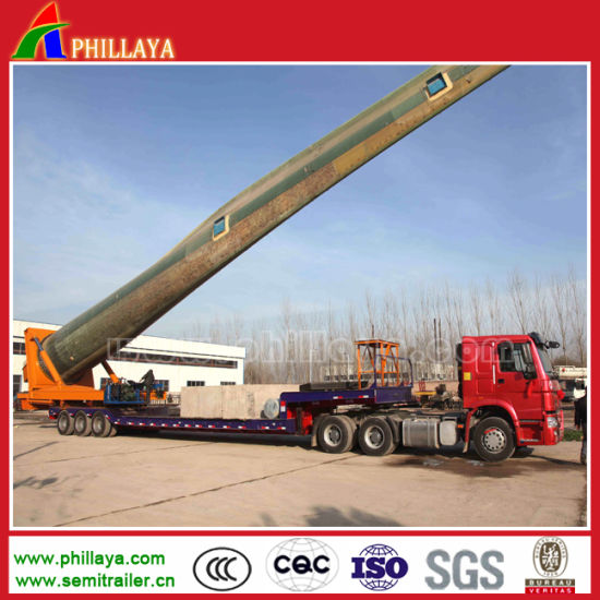 3 Axles Hydraulic Steering Wind Tower Transport Dolly Semi Trailer pictures & photos