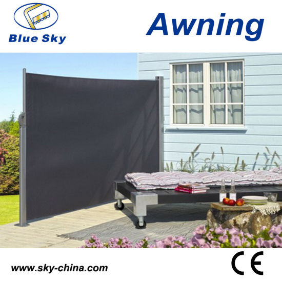 Outdoor Aluminium Polyester Retractable Side Screen Awning (B700)