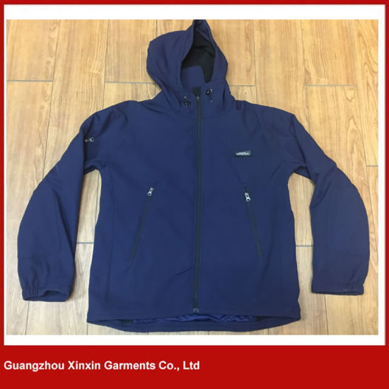 OEM Service Outdoor Mens Hooded Winter Softshell Jacket (J83) pictures & photos