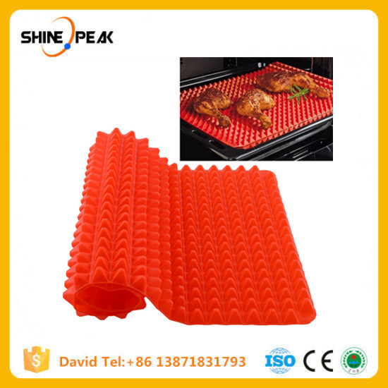 Red Pyramid Bakeware Pan Nonstick Silicone Baking Mats Pads Moulds Cooking Mat Oven Baking Tray Sheet Kitchen Tools pictures & photos