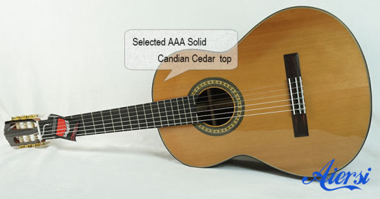 Aiersi Handmade Vintage Spanish Skills Solid Top Classical Guitar Sc02ar pictures & photos