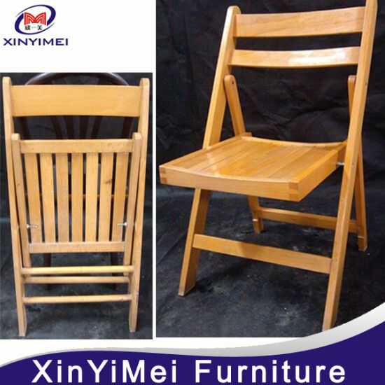 Charmant New Style Antique Restaurant Wood Folding Chair